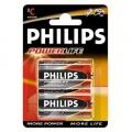 Philips PowerLife LR14 Mezza torcia alcalina 1,5V Bl.2pz