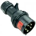 025-6x SPINA CEE 400V 32A 3P+N+T IP44 MIDNIGHT
