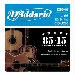 D'ADDARIO EZ940 - ACOUSTIC GUITAR 12 STRINGS SET