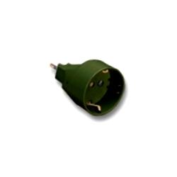 Adattatore nero spina 10A /presa Schuko