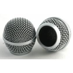 Griglia di ricambio cromata per microfoni dinamici