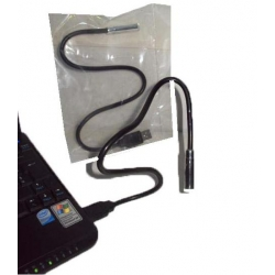 USB LED lamp with flexible rod