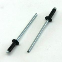 Conf. 100 Rivetti alluminio NERO 3x10mm