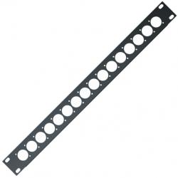 1 unit Rack panel 16 holes XLR black