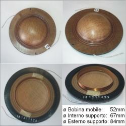 Membrana di ricambio 8Ω per driver D3-8 - Montarbo AS43
