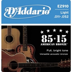 D'ADDARIO EZ910 - ACOUSTIC GUITAR 6 STRINGS SET - LIGHT