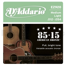 D'ADDARIO EZ912 - ACOUSTIC GUITAR 6 STRINGS SET - MEDIUM LIGHT