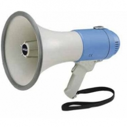 BATTERY MEGAPHONE 25W WITH SIREN AND WHISTLE