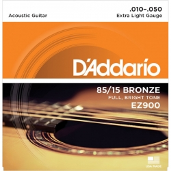D'ADDARIO EZ900 - ACOUSTIC GUITAR 6 STRINGS SET - EXTRA LIGHT