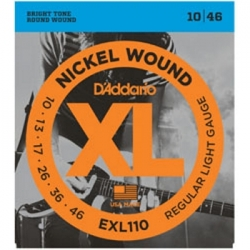 D'ADDARIO EXL110 - ELECTRIC GUITAR 6 STRINGS SET - REGULAR LIGHT