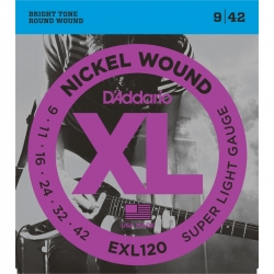 D'ADDARIO EXL120 - ELECTRIC GUITAR 6 STRINGS SET - SUPER LIGHT