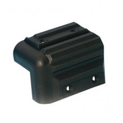 Cantonale in pvc nero per casse acustiche 57x41mm