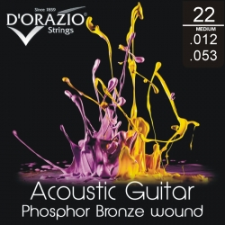 D'ORAZIO Acoustic guitar 6 strings set - Phosphor B. Medium 012/053