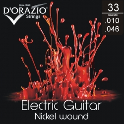 D'ORAZIO Electric guitar 6 strings set - Nickel Wound 010/046