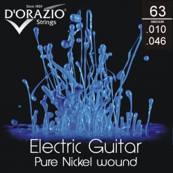 D'ORAZIO Electric guitar 6 strings set - Pure Nickel 010/046