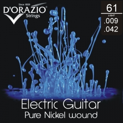 D'ORAZIO Electric guitar 6 strings set - Pure Nickel 009/042