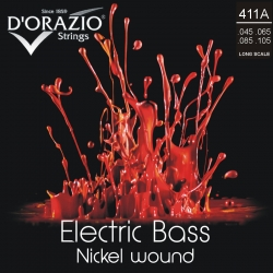 D'ORAZIO Bass guitar 4 strings set - Nickel Wound 045/105