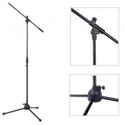 Asta microfonica nera con giraffa