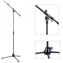 Asta microfonica professionale nera con giraffa