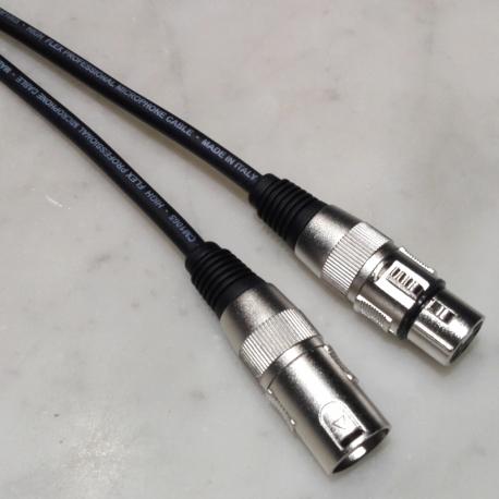 Cavo microfonico Nero XLR Maschio/Femmina Prof.le