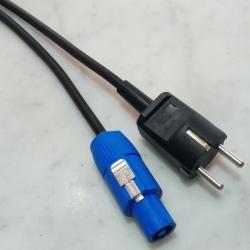 Cavo alimentazione H05VV-F 3G1.0 Powercon / Spina Schuko