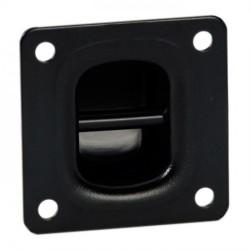 Aggancio in metallo nero per sospensione casse 75x75x25mm
