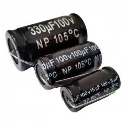 Condensatori elettrolitici Non Polarizzati 100V