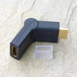 Angolo HDMI regolabile 0-90° Maschio/Femmina