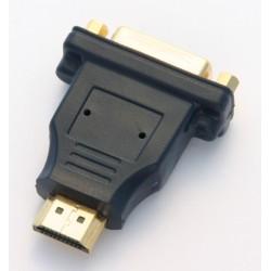 Adattatore Maschio HDMI / Femmina DVI dorato