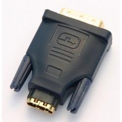 Adattatore Maschio DVI / Femmina HDMI dorato