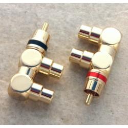 Coppia adattatori 1M. / 2 F. rca in metallo dorato n/r