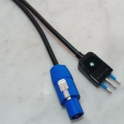 Cavo alimentazione H05VV-F 3G1.0 Powercon / Spina ITA 10A