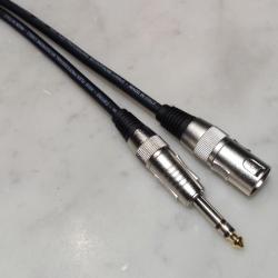 Cavo microfonico Nero M. XLR / M.6,3MM stereo Prof.le