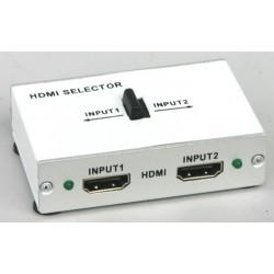 Selettore HDMI 2 ingressi/1 uscita