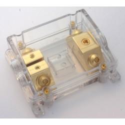 Portafusibile dorato trasparante x 2 ANL