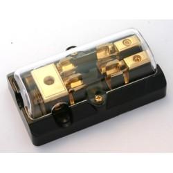 Derivatore/portafusibile dorato x 2 AGU
