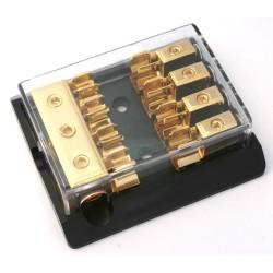 Derivatore/portafusibile dorato x 4 AGU