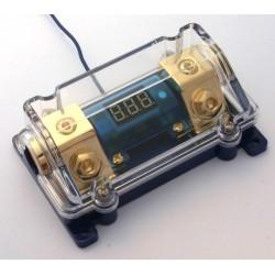 Portafusibile x ANL con voltmetro