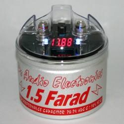 Condensatore small size 1,5 F con display rosso
