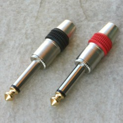 Coppia Maschi 6,3mm mono nickel per cavo 6/7mm