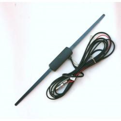 Antenna auto amplificata AM/FM universale a baffo