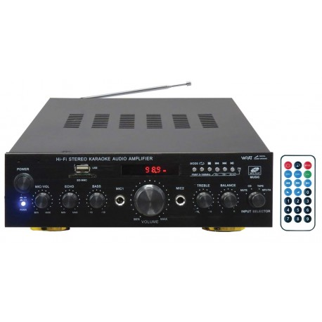 PA 2380 Stereo amplifier 50+50W + radio and USB MP3 player