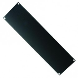 RS246 - 3 units frontal Rack panel black