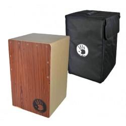 CAJON in legno rosso + borsa